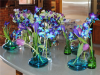 side table props - orchid purple